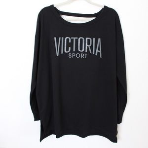 Victoria's Secret Sport Black Low Back Sweatshirt
